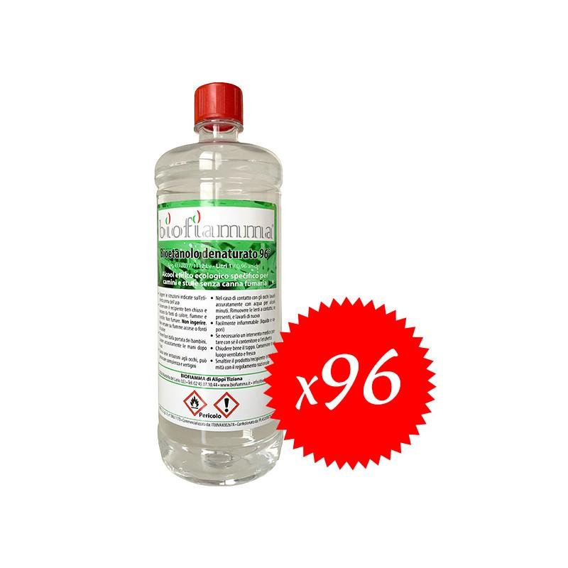 96 flaconi di bioetanolo da 1 litro